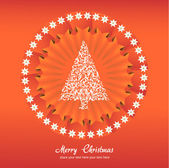 Christmas tree applique vector background. — Stock Vector