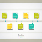 Modern timeline design template — Stock Vector