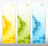 Set of three abstract banners. eps 10 — Stock Vector