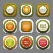 Set of modern design labels. eps 10 — Vector de stock