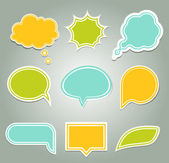 Set of colorful speech bubbles. eps 10 — Vector de stock