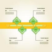 Moderne tijdlijn ontwerpsjabloon — Stockvector