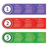 Vector paper progress. eps 10 — Stock Vector