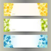 Abstract Flower Vector Background. Brochure Template. Banner. eps 10 — Stock Vector