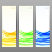 Set of three abstract banner — Stock Vector