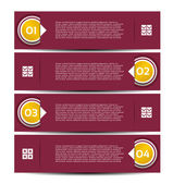 Paper numbered banners. Vector design template. — Stock Vector
