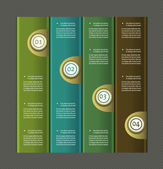 Papel numerado banners. vector design template.eps 10 — Vetor de Stock