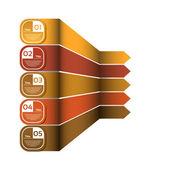 Vector Progress Background. Product Choice or Version. eps 10 — Stok Vektör
