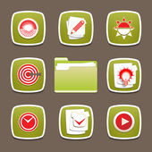 Design modern vector icons set for document, planning, application. — Stock Vector