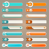 Modern infographics options banner. Vector illustration. can be used for workflow layout, diagram, number options, web design, prints. — Vector de stock