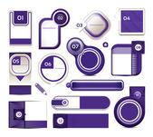 современная инфографика параметры баннер. векторные иллюстрации. может использоваться для разметки рабочего процесса, схема, параметры номера, веб-дизайн, печать. — Cтоковый вектор