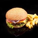 Potato and burger — Stock Photo
