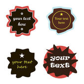 Stickers and labels set of cards. vector — 图库矢量图片