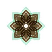 Parlak renkli desenli çiçek. Renk — Stok Vektör