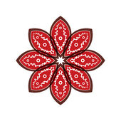 Flower petals with red pattern — Vector de stock