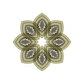 Flower green gray, patterned petals. — Vector de stock