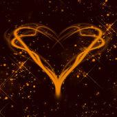 Röd alla hjärtans dag bakgrund — Stockfoto