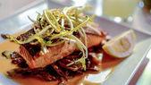 Salmon dish — Stock Photo