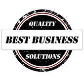Best business stamp — Stock Vector