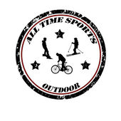 All time sports stamp — Stock Vector