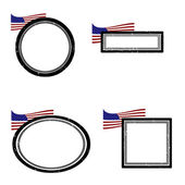 Set of stamps america — Stockvektor