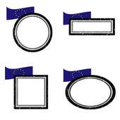 Set of stamps ue — Stock Vector