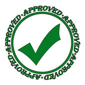 Approved stamp green — Stockvector