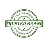 Trusted brand stamp — Stock Vector