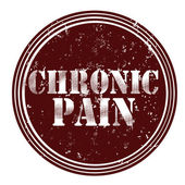 Round chronic pain — Stock Vector