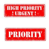 Urgent high priority — Stock Vector