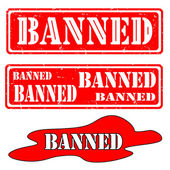 Set banned — Stock Vector