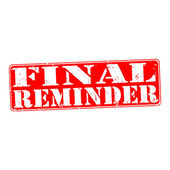 Final reminder — Stock Vector