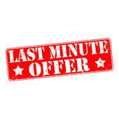 Sista minuten-erbjudande — Stockvektor