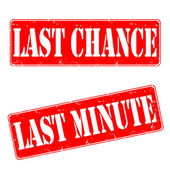 Last chance, last minute — Stock Vector
