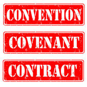 Convention,convenant,contract — ストックベクタ