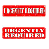 Urgently required — Stock Vector