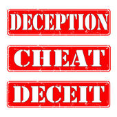 Deception,cheat,deceit — Stock Vector