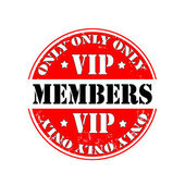 Only vip members — Stock Vector
