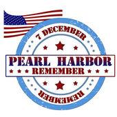 Remember Pearl Harbor stamp — Stock Vector