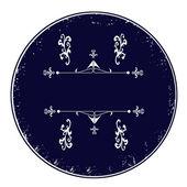 Blauwe lege kalligrafische stempel — Stockvector