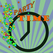 Abstract background with the text party time written inside, vector illustration — Stockvektor