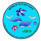 World ocean day — Stock Vector