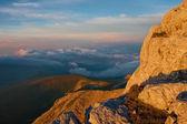 山の夕焼け秋 — ストック写真
