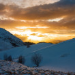 Mountain sunset winter — Stock Photo #41634441