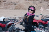 Motorcycle safari egypt — Stock Photo