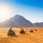 Motorcycle safari egypt — Stock Photo