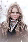 Blonda ansikte — Stockfoto