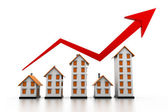Graph of the housing market — Stock Photo