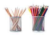 Pencils in holders — Stock Photo