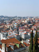 View on the roofs of the center of Lisbon city — Stock Photo